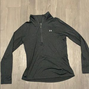 Grey under armour quarter zip